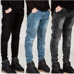 Gray Stretchable Fancy Jeans