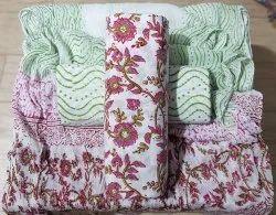 Floral Bagru Print Dress Materials