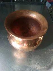 Plain Round Copper Pooja Lota, Capacity: 200 Ml