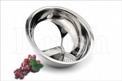 Silver Stainless Steel Rice Strainer