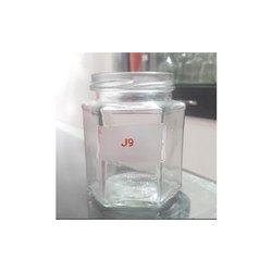 400 Ml Hexagonal Glass Jar