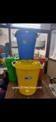 S.M RED BLUE YELLOW GREEN Plastic Drums, For Water Storage, Packaging Type: Loose