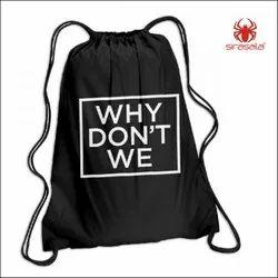 Logo Printed Drawstring Bags