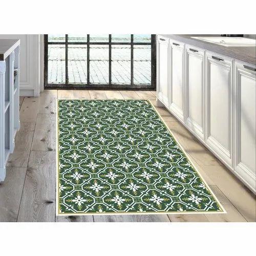 Green Vinyl Printed Floor Mat