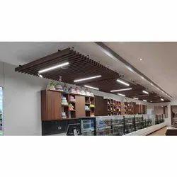 Linear False Ceiling aluminium metal services