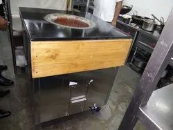 Stainless Steel Round Tandoor Roti Oven Charcoal Operated, for Commercial