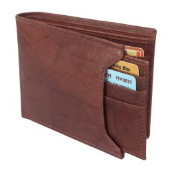 Brown Leather Wallets Rfid protected
