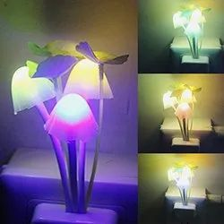 LED Night Light Plug Lamp, Mushroom Lamp With Smart Sensor (Auto On-Off) White