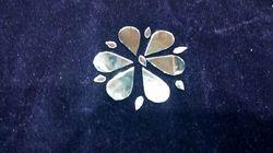 Panchi Almond Mirror Glass, Bead Glass, Decorative Glass