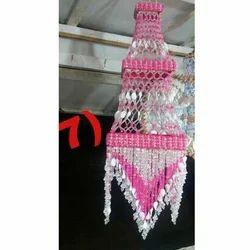 Pink White Crystal Jhumar