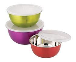 Stainless Steel Microwave Safe Bowls (Set Of 3)