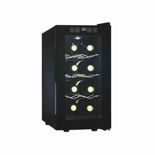 Black Stainless Steel Kaff KWC TH-8 Freestanding Wine Cooler, Model Name/Number: KWC TH-8