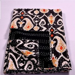 Authentic Printed Kantha Bedspread