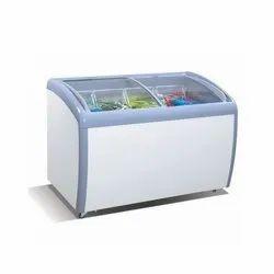 Curved Glass Freezer