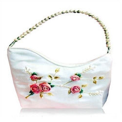 Designer Silk Beaded Bag