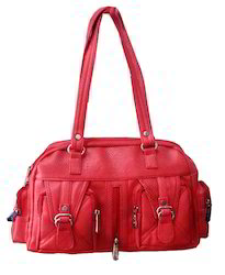 Onego Red Ladies Hand Bag, For Casual Wear