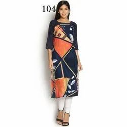Silk Digital Printed Kurti