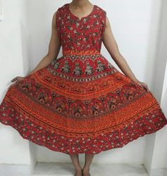 Mandala Printed Maxi Dress