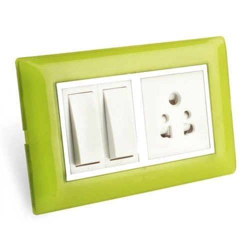 Polycarbonate 2 Pin Socket Modular Socket Switch, ON/OFF