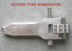 Stainless Steel Rotatory Number Punch