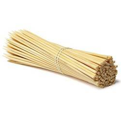 Natural White Bamboo Skewer 12inch 4mm