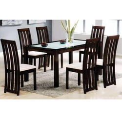 Black And White Parin 6 Seater Dining Table Set
