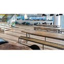 Wood And Iron Wooden Canteen Furniture Set