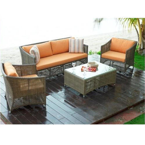 Modern Wicker Furniture, For Home,Hotel,Restaurants,Resorts, Seating Capacity: 4