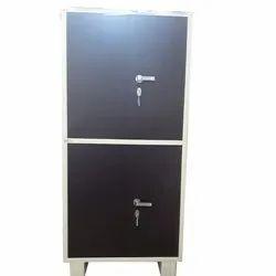 Brown Double Door powder coated steel Almirah, For Home