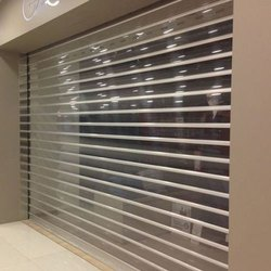 White Up Polycarbonate Rolling Shutter, Dimension/Size: 100