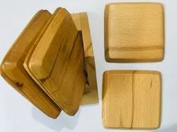 Wooden Coasters Tea Or Coffee. Pack Of 6 With Holder.