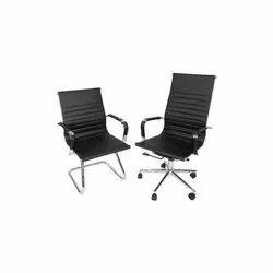 Modern Leatherette Pu Sleek Office Chair
