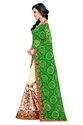 Green Bandhani Designer Half And Half Georgette Saree