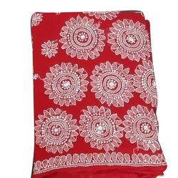 Red Party Wear Ladies Skurd Saree, With blouse piece, 6.5m