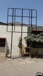 Mild Steel Exterior Hoarding Frame & Structure, For Construction