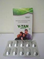 Multi Vitamin with Spirulina, Green Tea Ext. and Ginseng Ext. Capsule, V-Tan, Grade Standard: Food Grade