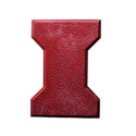 Red Cement I Shaped Interlocking Tile, Thickness: 20-40 Mm