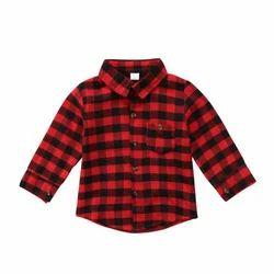 Boys Cotton Kids Checked Shirt