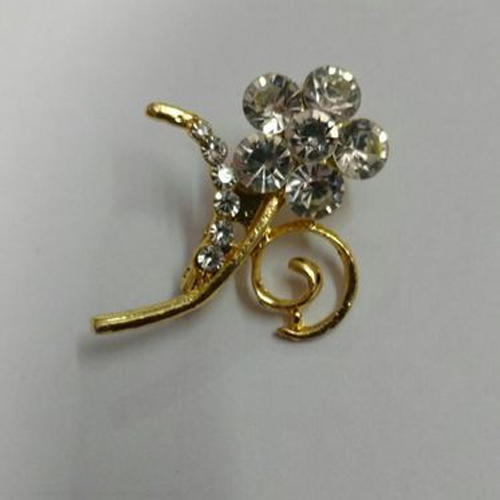 Saree Brooch Pin - Gold Plated Saree Brooch Pin Manufacturer from
