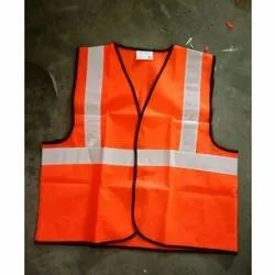 Plain Sleeveless Polyester Reflecting Safety Jacket for Construction