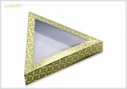 Perfect Pack Duplex Paper Big Chocolate Triangle Box, Size: 7 X 7 X 1.25 Inch