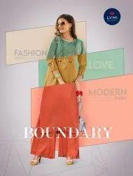 Kessi Lymi Boundry Kurti With Plazzo Sets Catalog