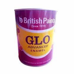 High Gloss Metal 1 Liter British GLO Advanced Yellow Enamel Paint