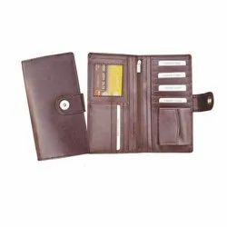 Leatherette Party Ladies Brown Clutch Wallet, Packaging Type: Box