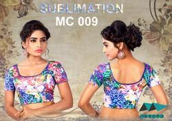 Multicolor Sublimated Readymade Blouse, Size: FREE SIZE