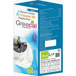 Greecal Calcium Citrate & Vitamin D3 Suspension, Packaging Size: 200 ml, Prescription