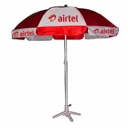 Red And White Printed Garden Promotional Umbrella, Size: Starts From 36 Inches