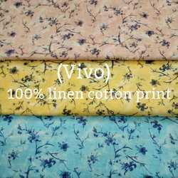 Linen Cotton Print Shirting Fabric (Vivo)
