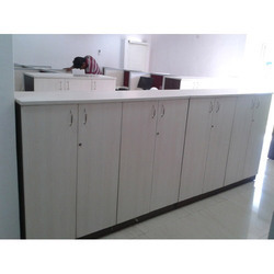 White Wall Storage Cabinet for Office