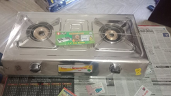 Indane Two Burner LPG Gas Stove for Kitchen